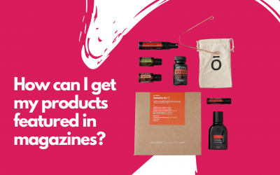 How can I get my products featured in magazines?