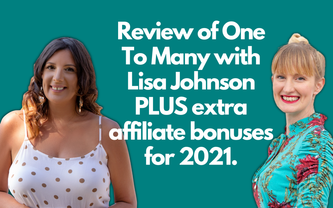 Review of One To Many with Lisa Johnson PLUS affiliate bonuses for 2021